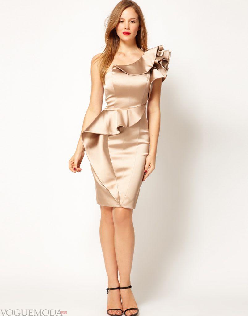 красивое платье на выпускной атласное