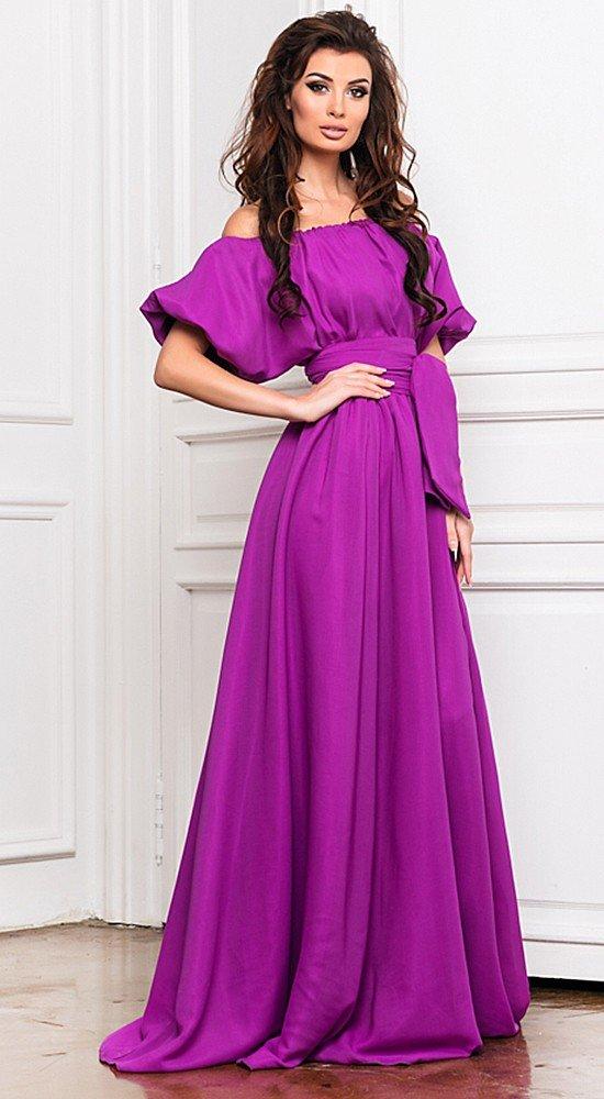 красивое платье на выпускной фиолетовое