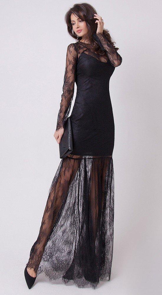 красивое платье на выпускной черное