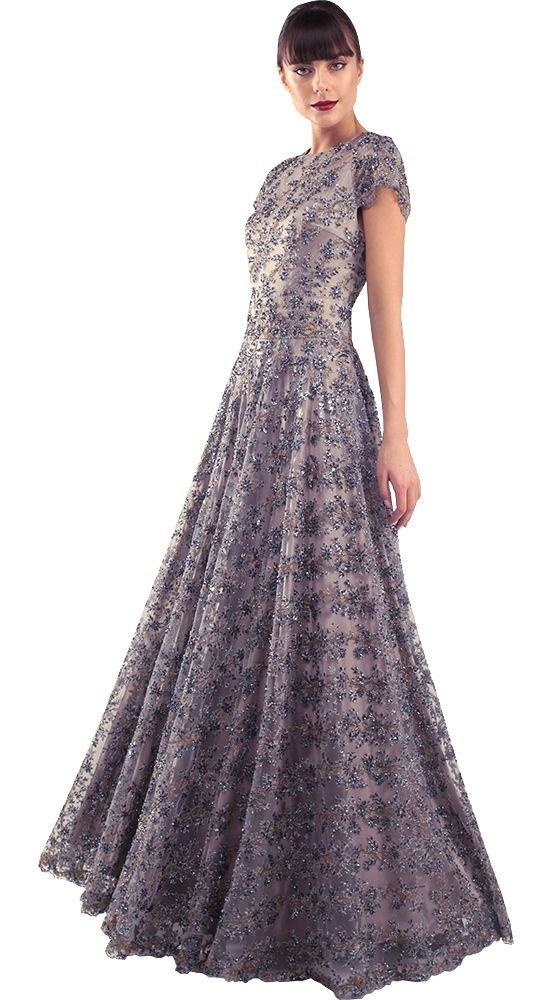 красивое платье на выпускной серое