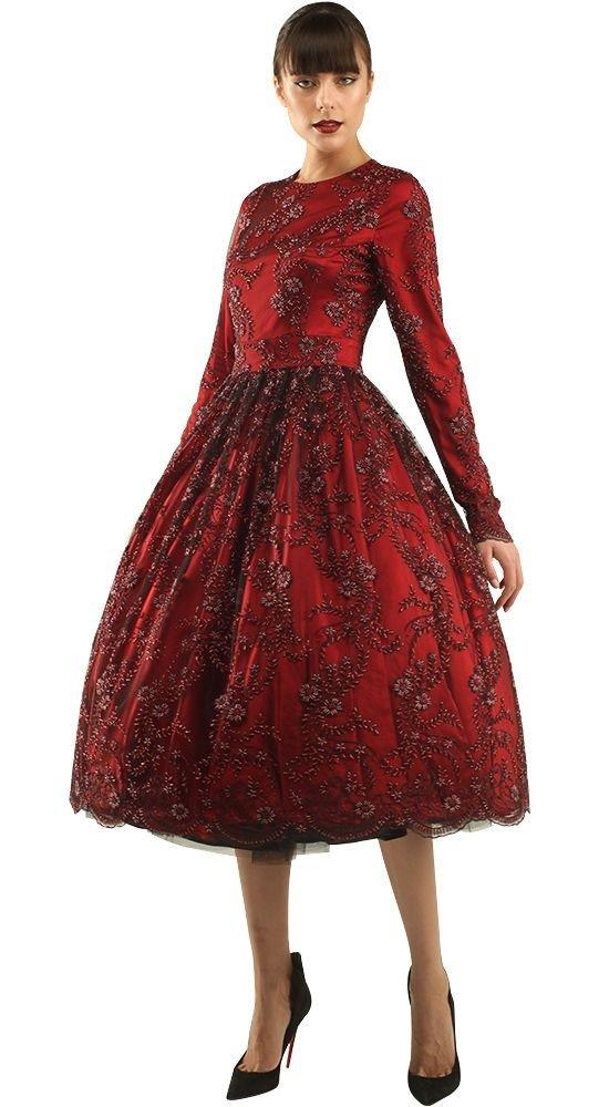 красивое платье на выпускной красное