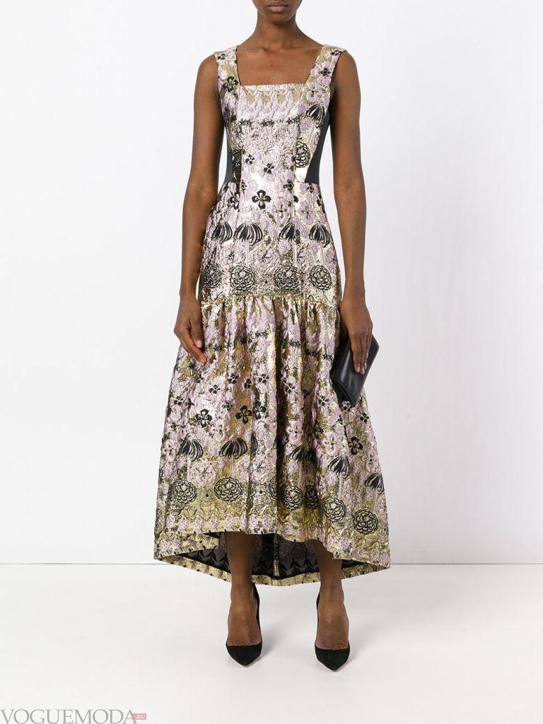выпускное платье маллет с принтом