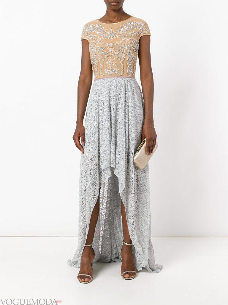 выпускное платье маллет кружевное
