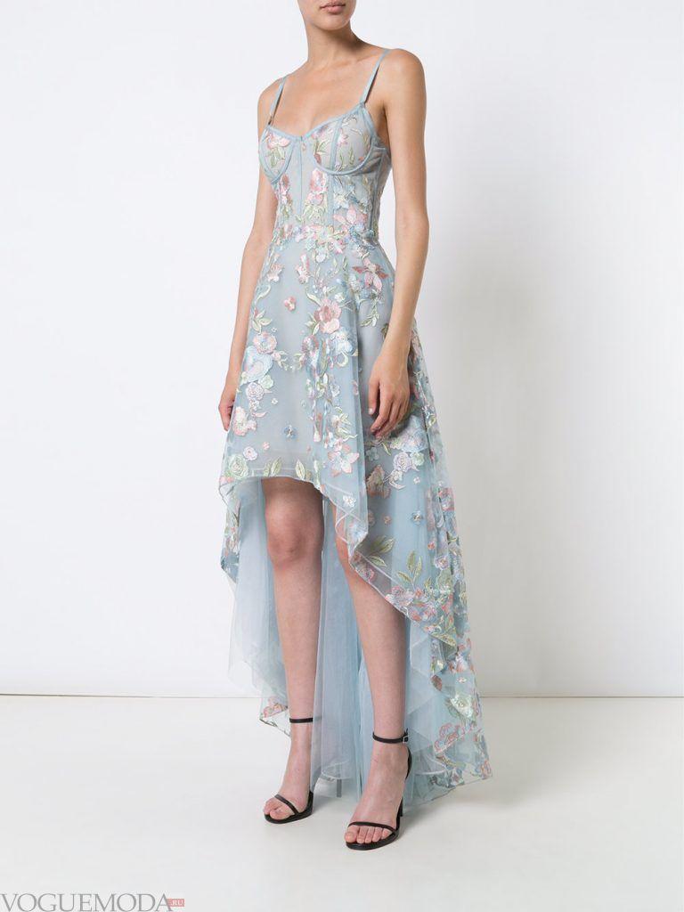 выпускное платье маллет голубое