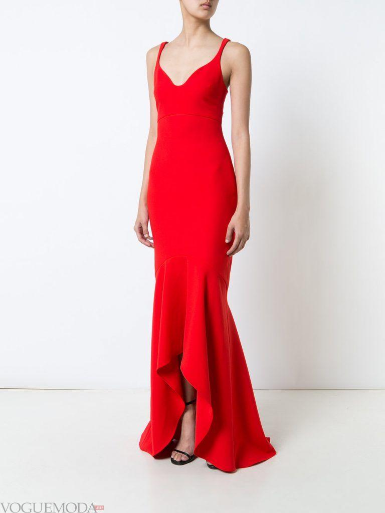 выпускное платье маллет красное