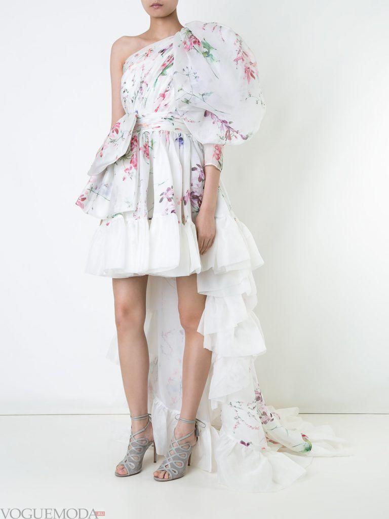 выпускное платье маллет светлое