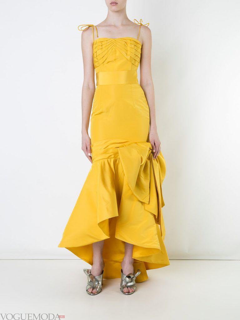 выпускное платье маллет желтое