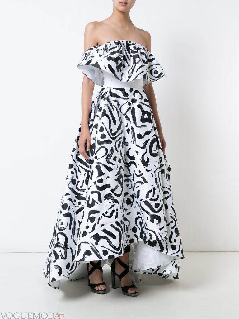 выпускное платье маллет с узором
