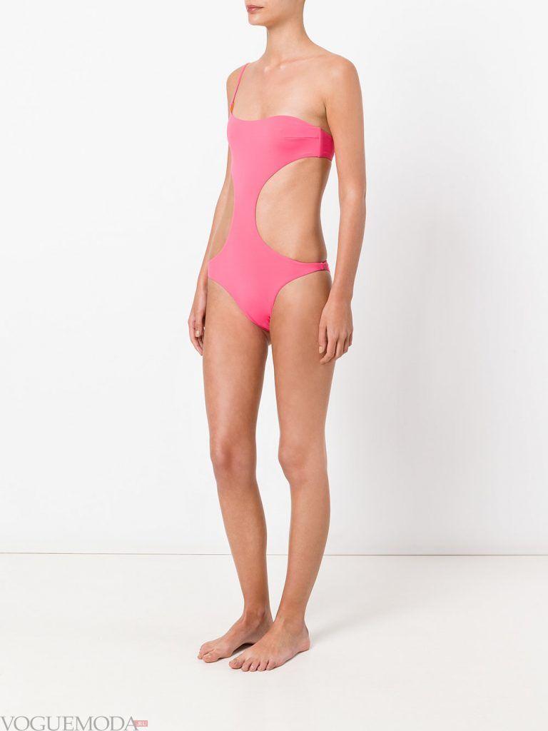 модный купальник розовый