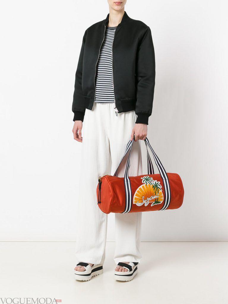 пляжная сумка оранжевая