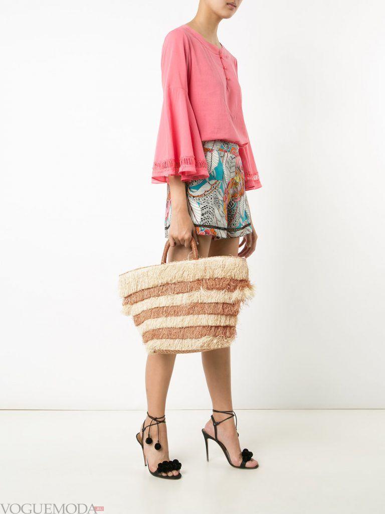 пляжная сумка п полоску