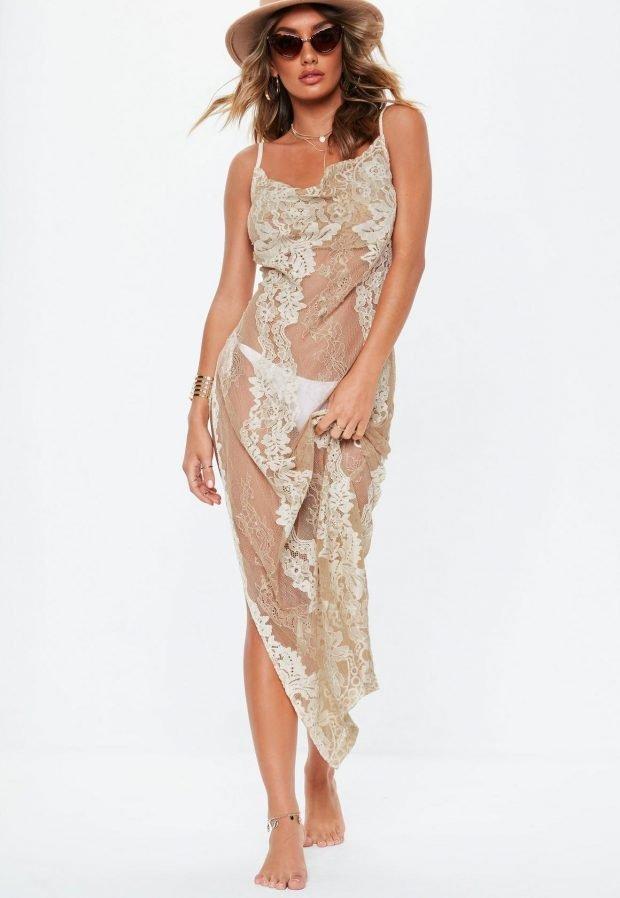 Пляжная мода 2019: прозрачное платье