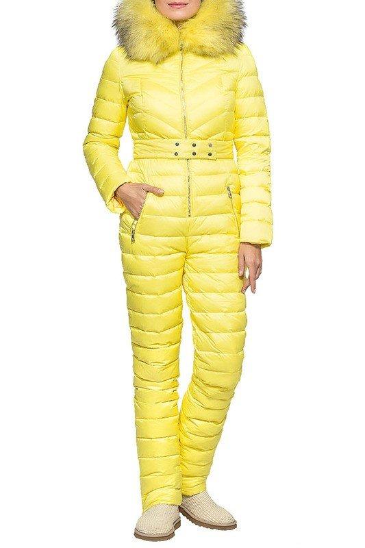 пуховик комбинезон желтый