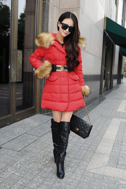 зимние ботфорты на каблуке кожаные