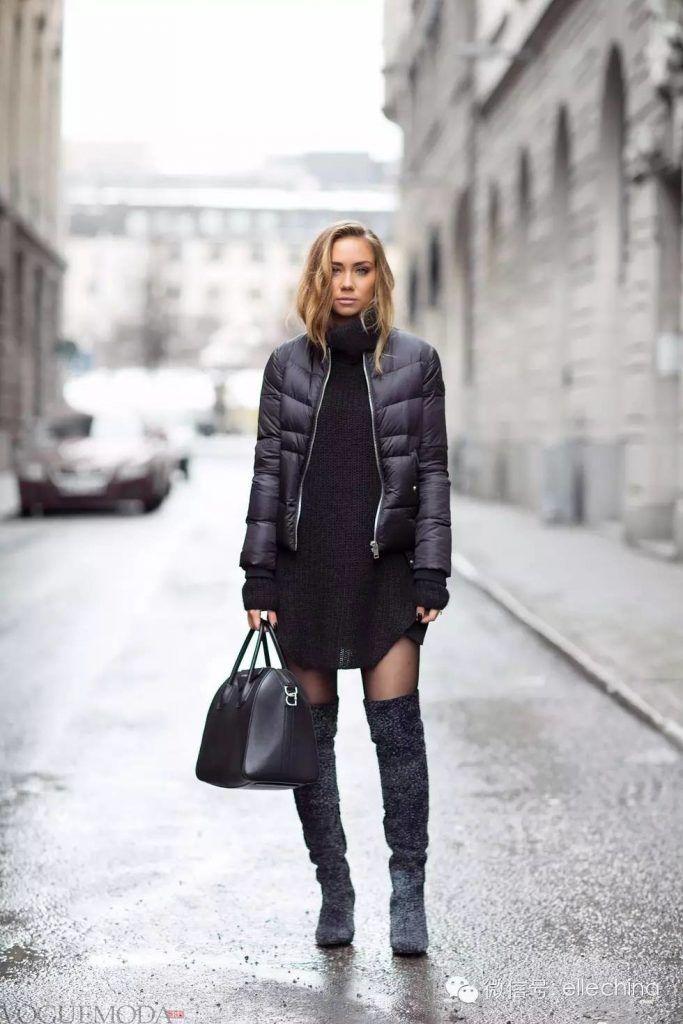 зимние замшевые ботфорты черные высокие