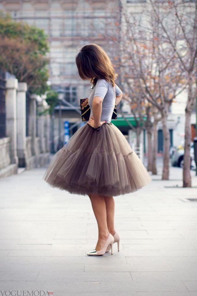 гипюровая юбка пачка нюдового цвета