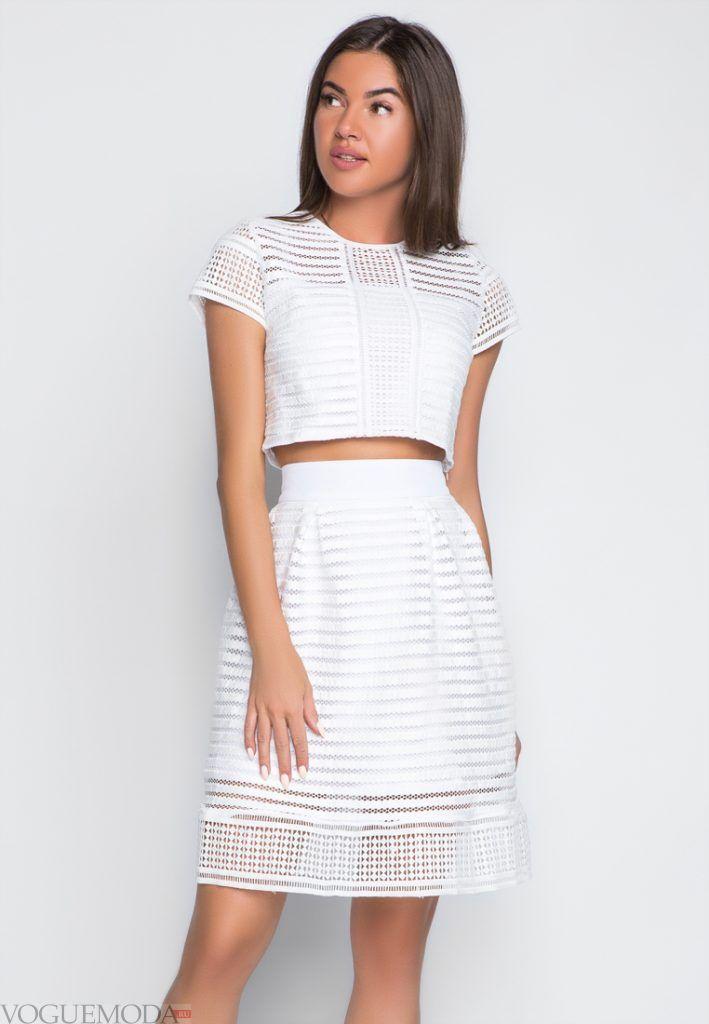 гипюровая юбка с поясом