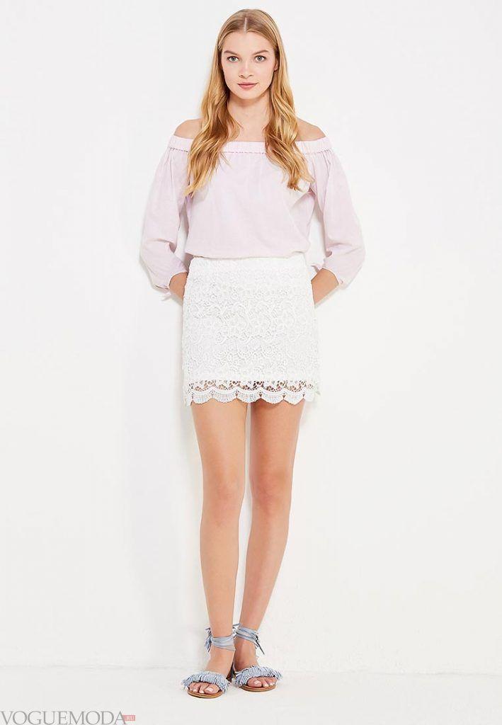 гипюровая юбка короткая