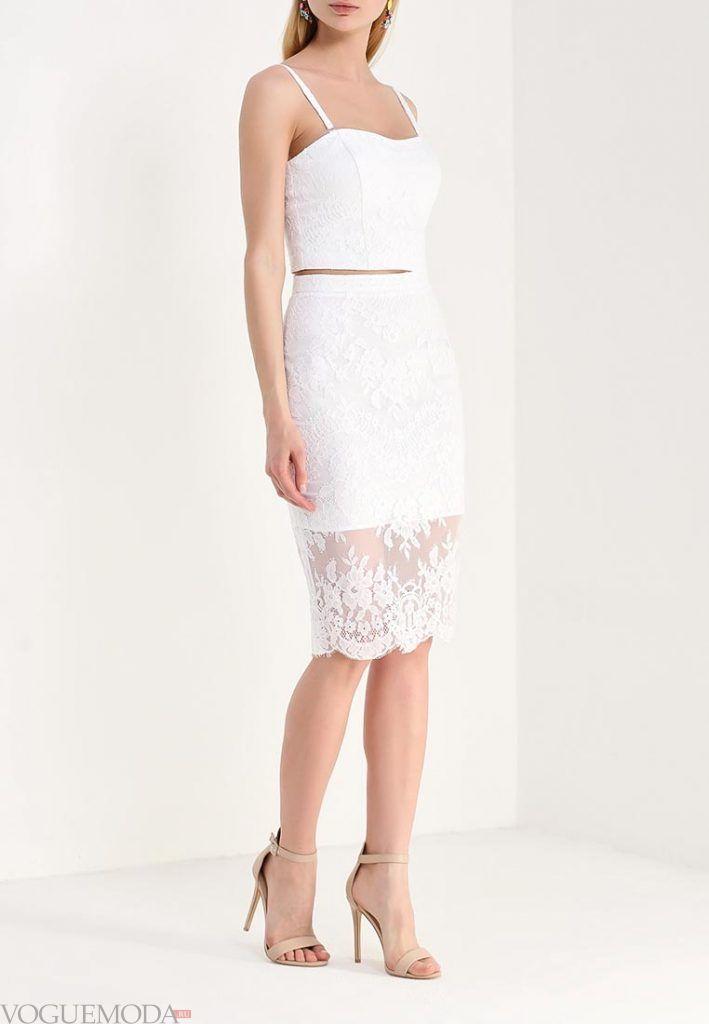 гипюровая юбка белая