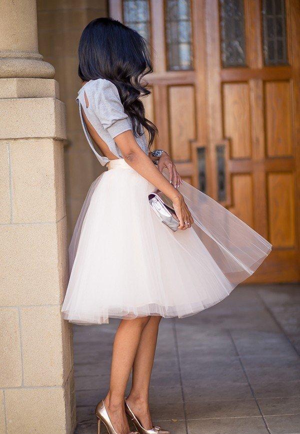 гипюровая юбка пачка белая