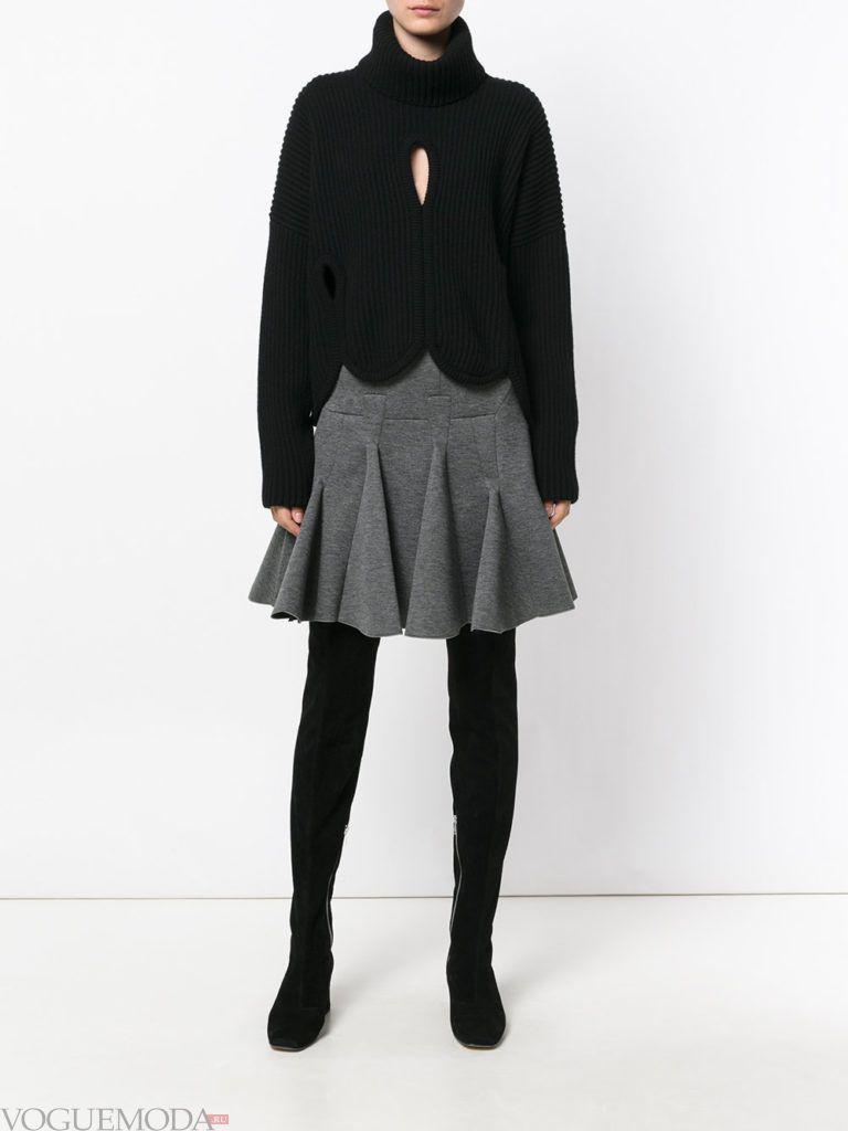 с чем носить серую юбку: с пиджаком