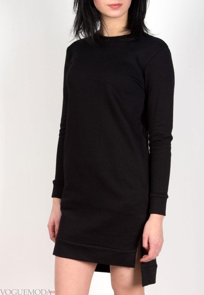 спортивное платье черное
