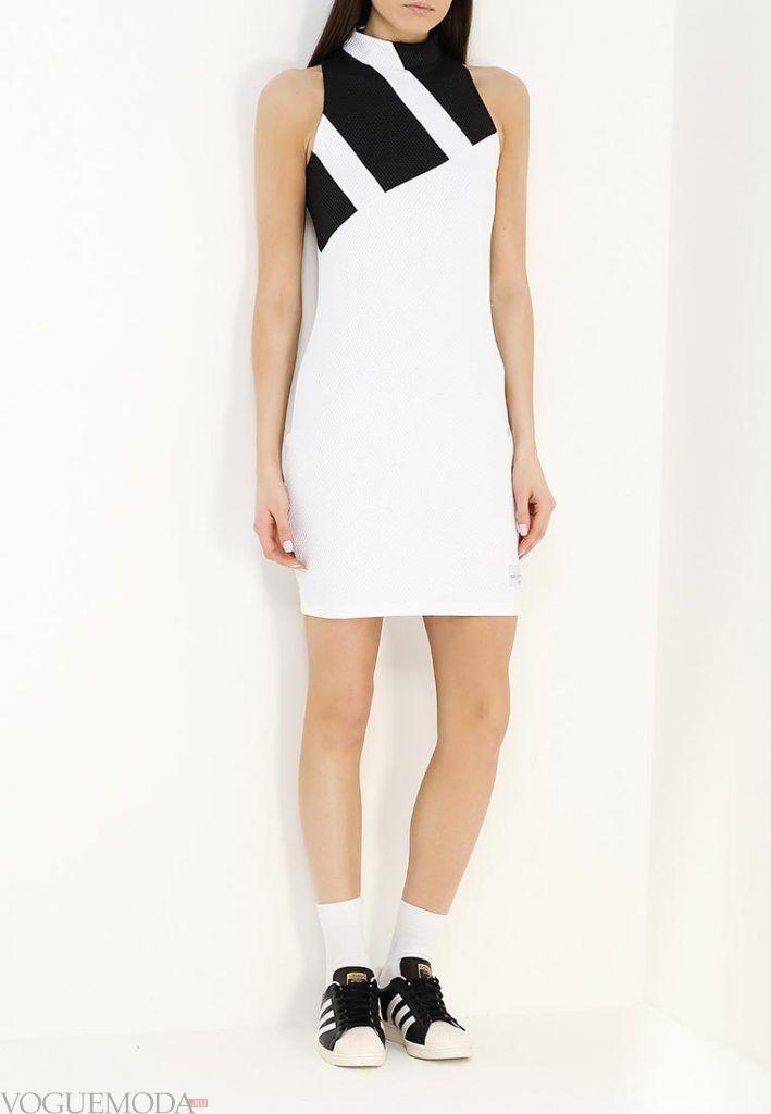 спортивное платье белое