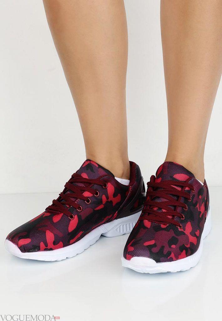 спортивные кроссовки с принтом