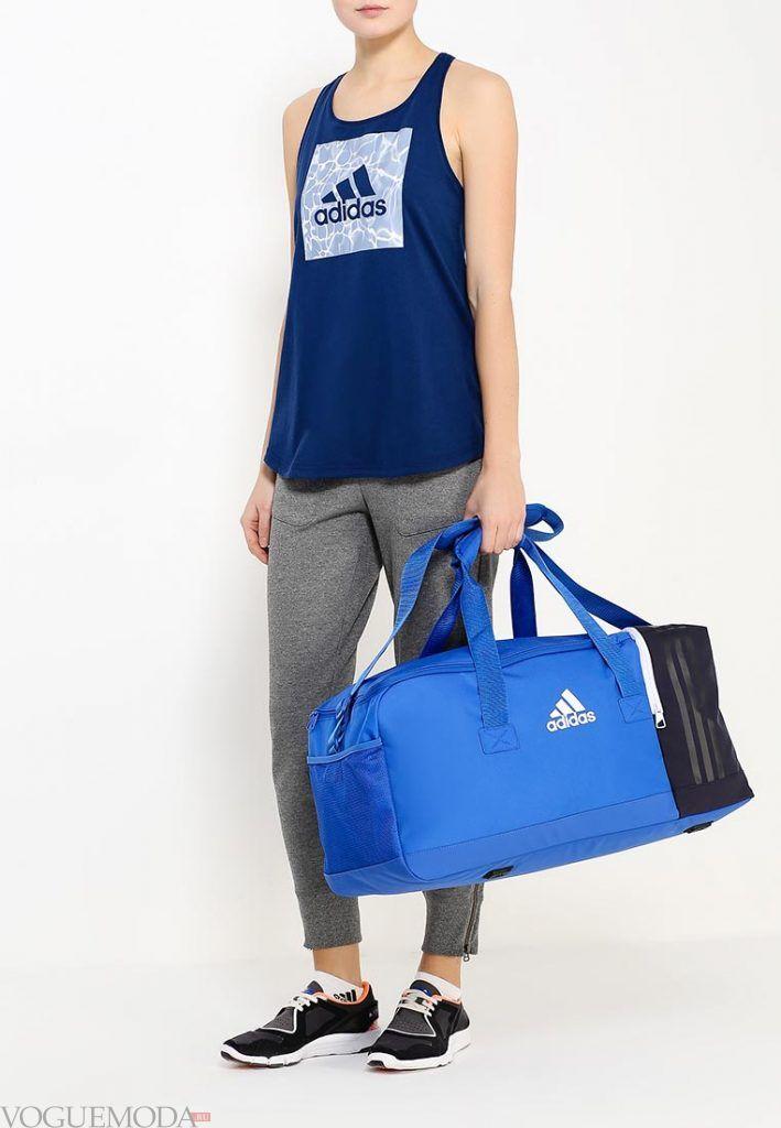 сумка спортивная синяя