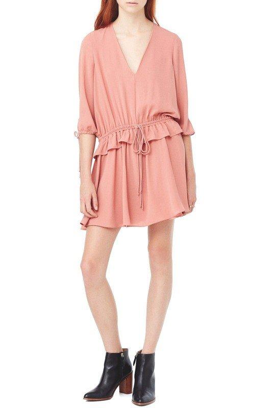 стильное платье розовое