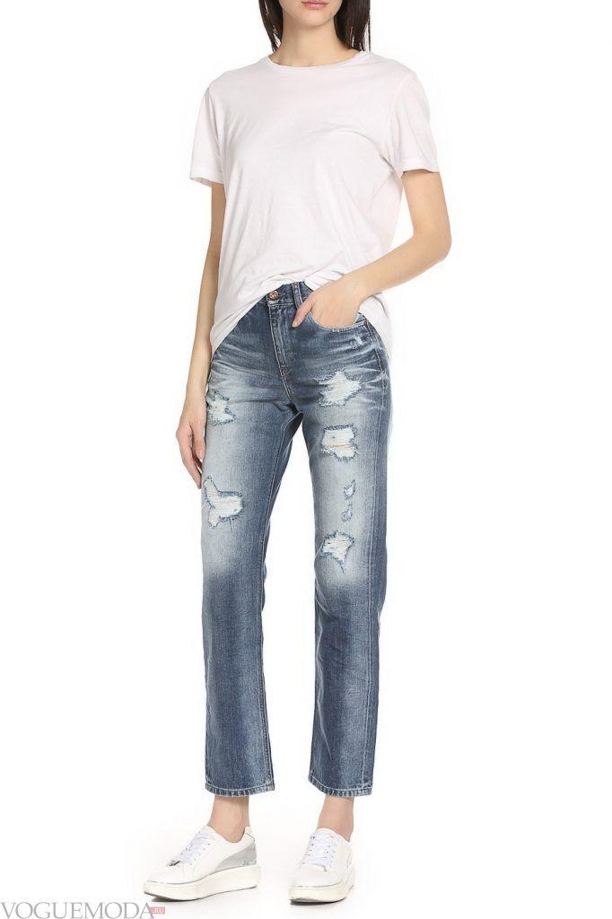 стильные джинсы клеш