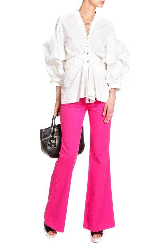 стильные джинсы розовые