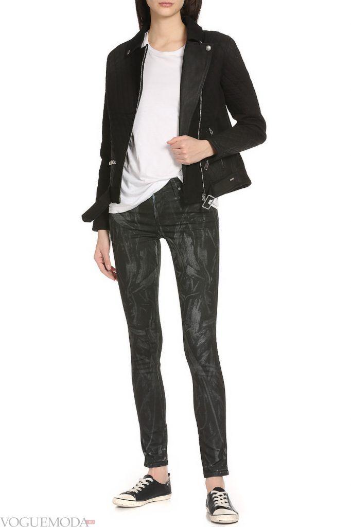 стильные джинсы черные