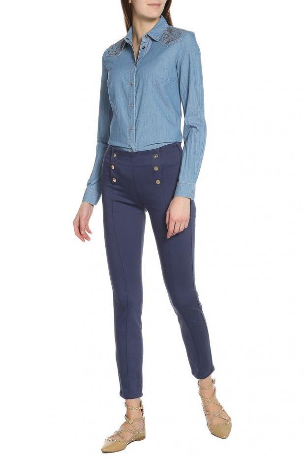 брюки синие