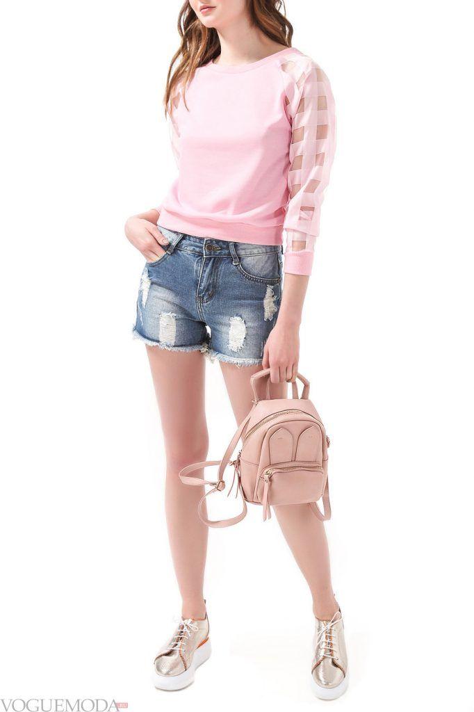 стильный свитшот розовый