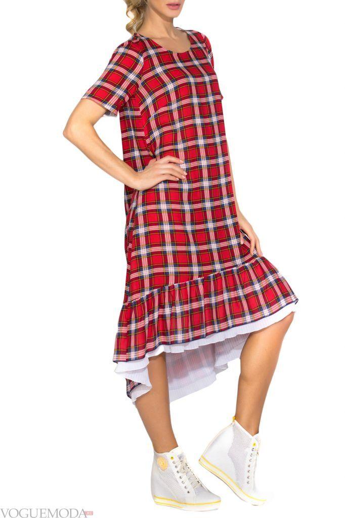 стильное платье длинное