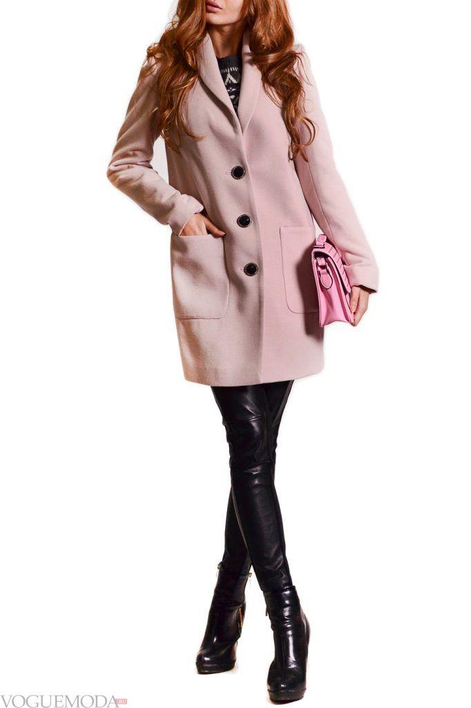 стильное пальто нюдовое