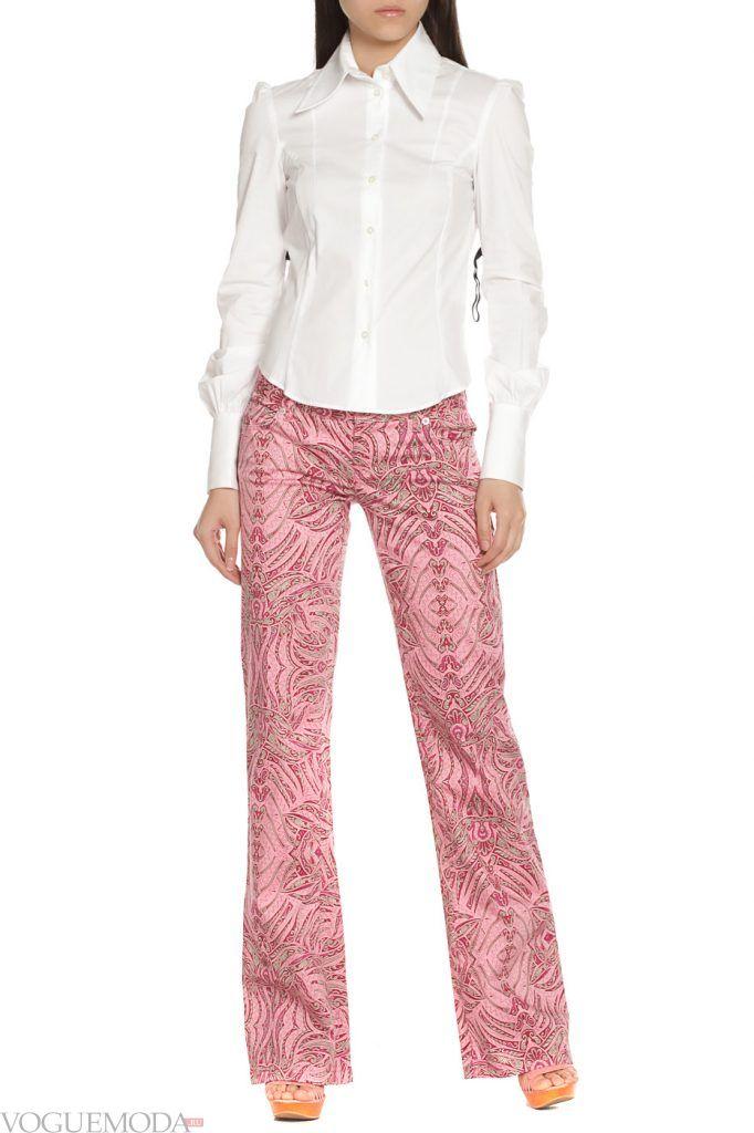 стильные брюки с орнаментом