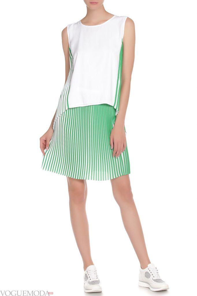 стильная юбка зеленая