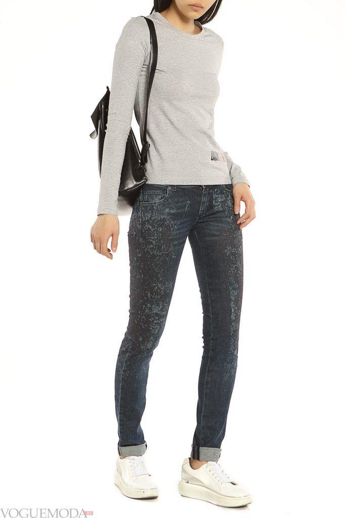 стильные джинсы темные