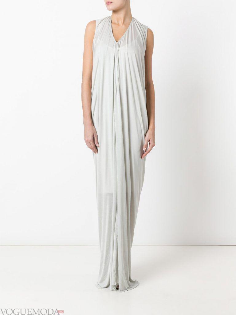 длинное выпускное греческое платье светлое