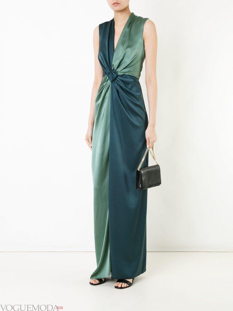 длинное выпускное греческое платье двухцветное