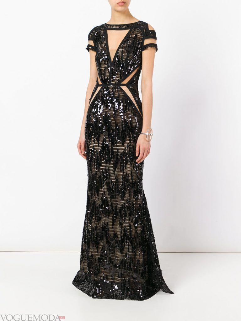 длинное выпускное платье русалка с декором