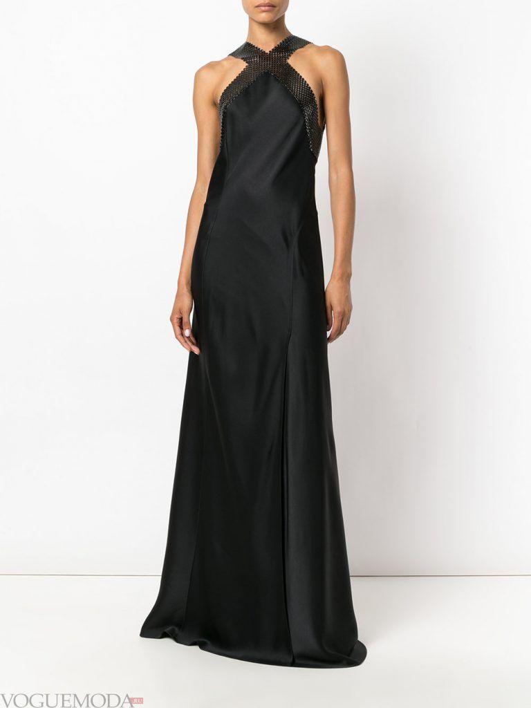 длинное выпускное платье русалка темное
