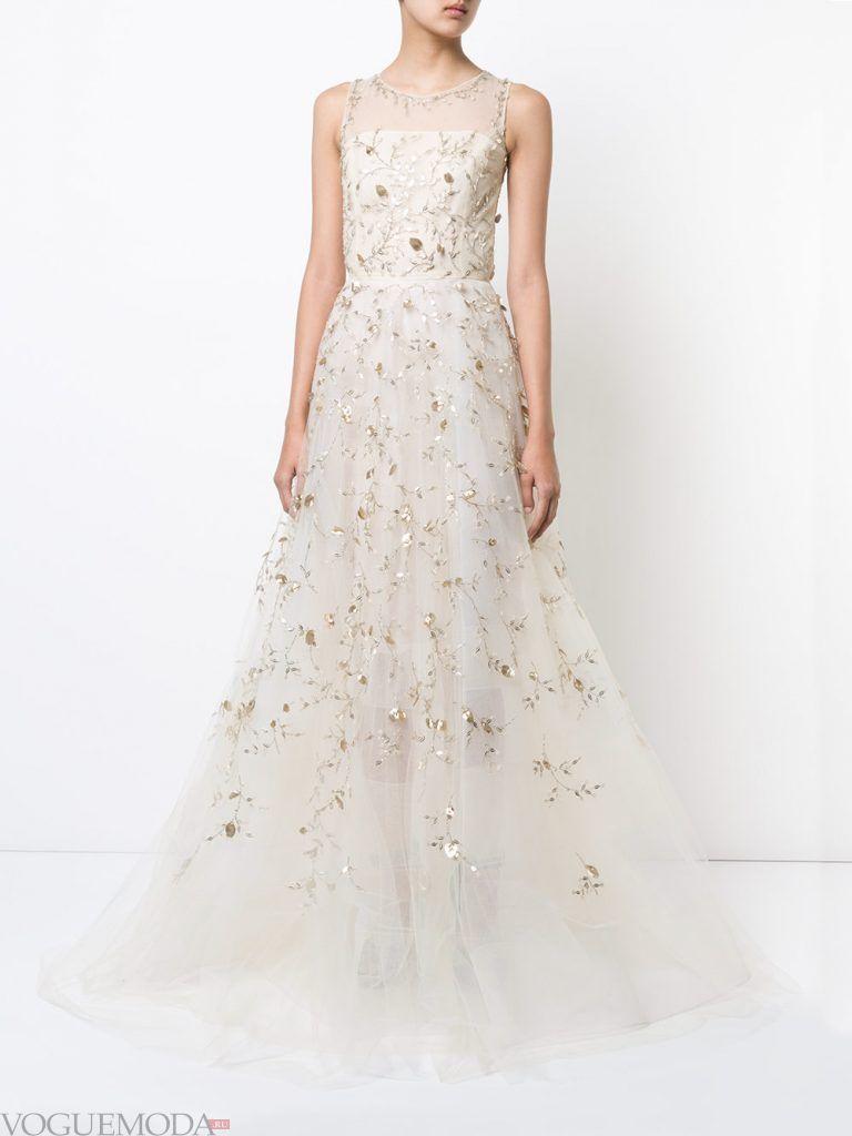 длинное выпускное платье легкое белое