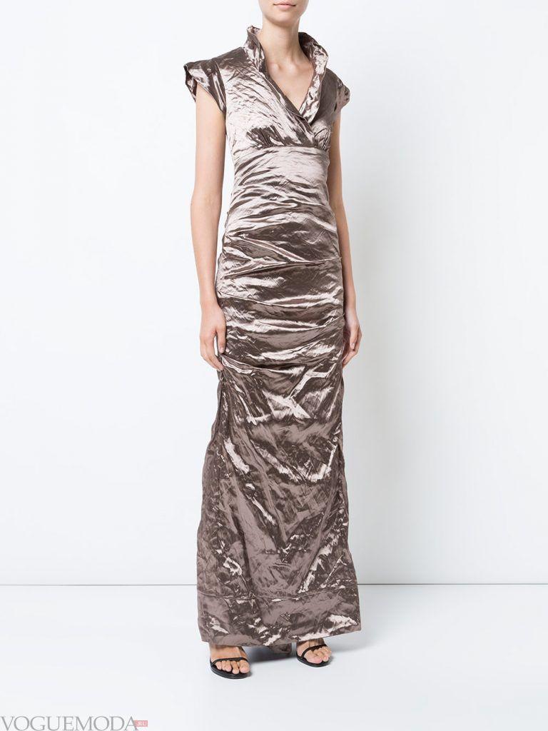 длинное вечернее выпускное платье светлое