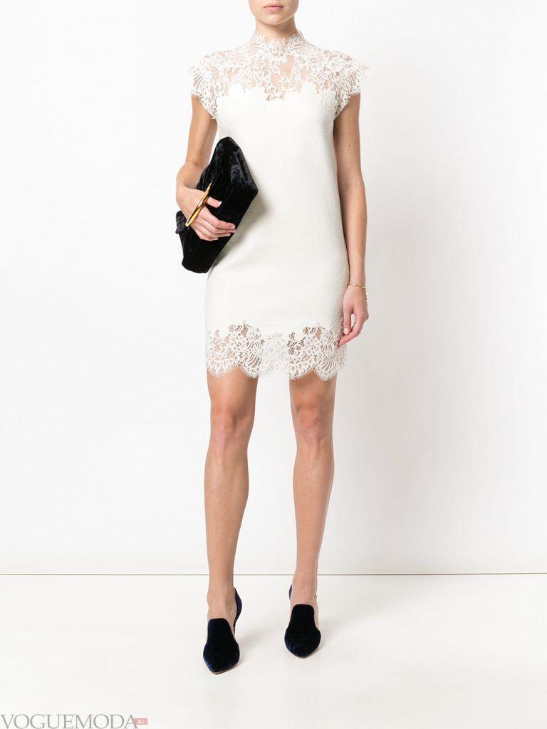 вечернее короткое выпускное платье белое