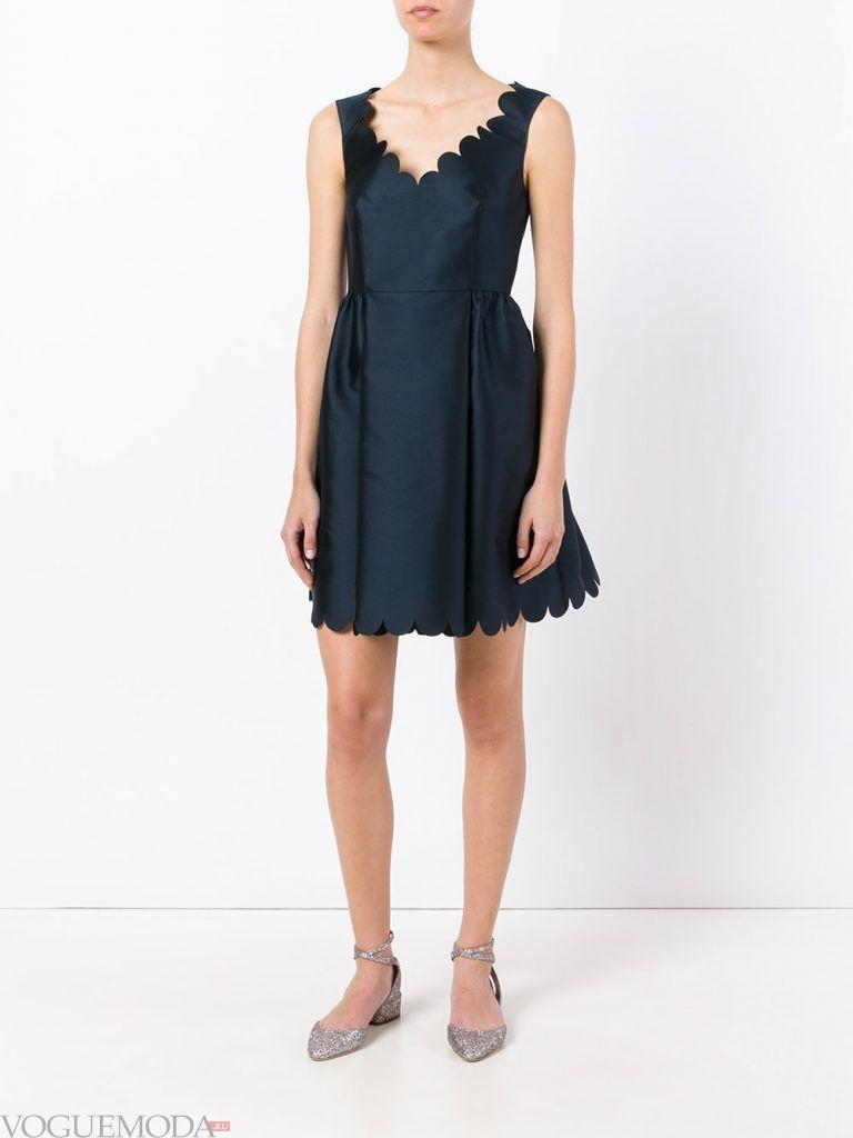 короткое выпускное пышное платье темное