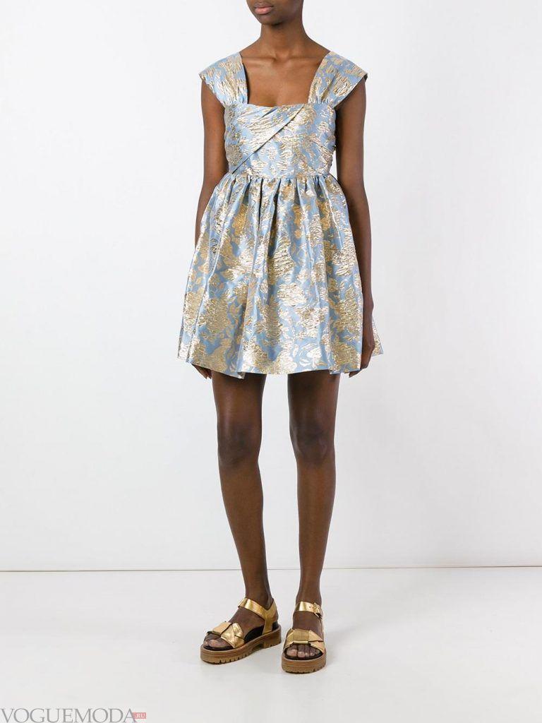короткое выпускное пышное платье блестящее