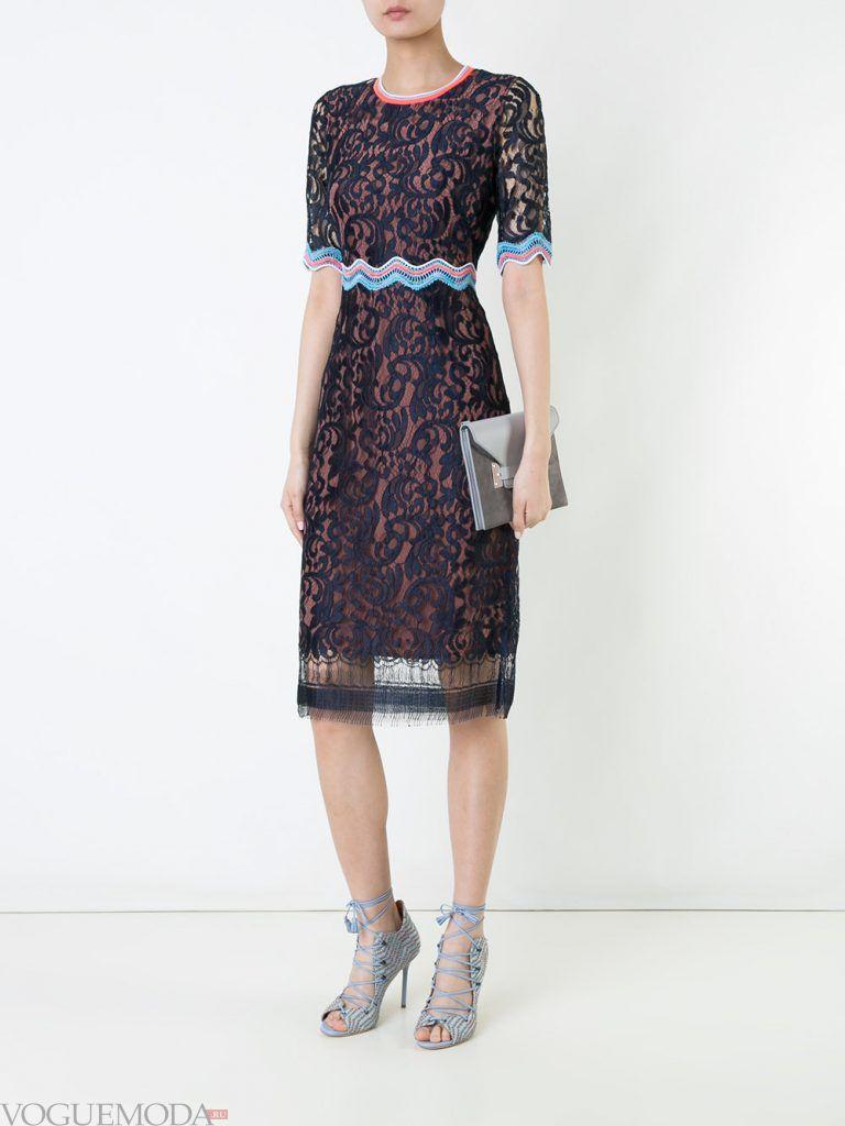 короткое выпускное платье футляр кружевное